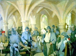 Hôpital Auxilaire D'Armée 30 - Abbaye de Royaumont (Norah Neilson Gray, 1918. Helensburgh public library)