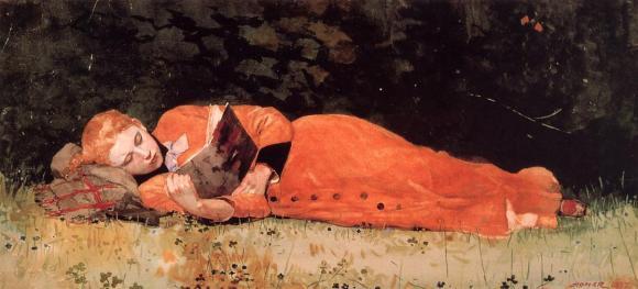 The new novel, 1877 - Winslow Homer
