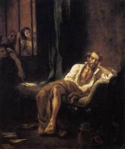 """""""Le Tasse en prison"""", huile sur toile d'Eugène Delacroix, 1839"""