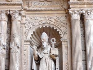 Imagen de San Agustín en la Catedral del Espacio