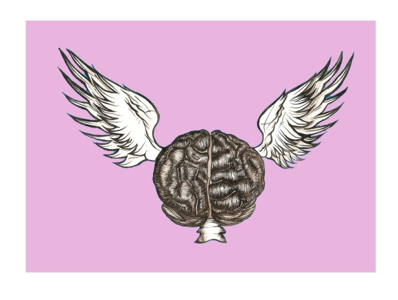 Cerebro con alas