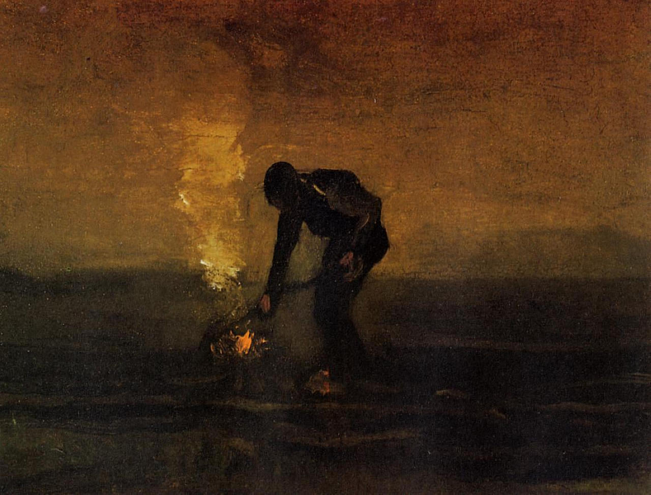 1883 - Peasant Burning Weeds