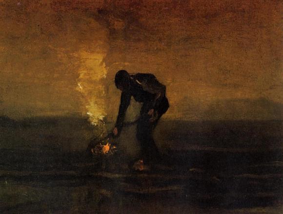 1883 - Peasant Burning Weeds