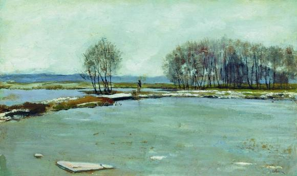 Isaac Levitan, Early spring,1899